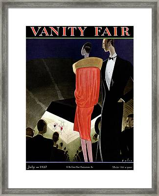 A Vanity Fair Cover Of A Boxing Match Framed Print by William Bolin