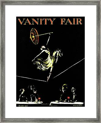 A Vanity Fair Cover Of A Woman Tightrope Walking Framed Print