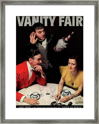 A Vanity Fair Cover Of Celebrities Framed Print