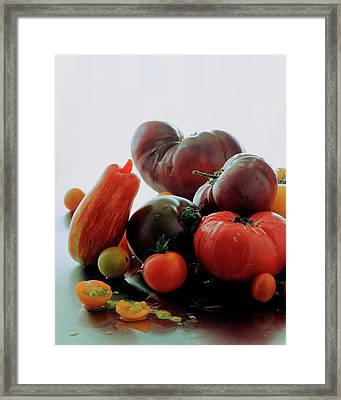 A Variety Of Vegetables Framed Print