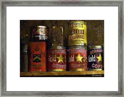 A Variety Of Vintage Tins Framed Print by RC DeWinter