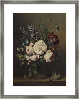 A Vase Of Flowers Framed Print by Louis Leopold Boilly