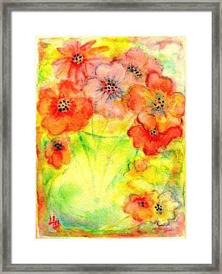 A Vaseful Of Sunshine Framed Print by Hazel Holland