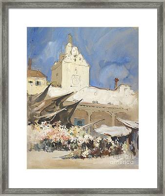 A Vegetable Market In Venice Framed Print by Celestial Images
