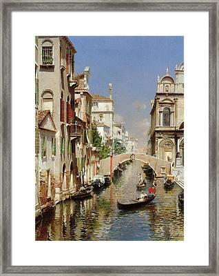 A Venetian Canal  Framed Print by Rubens Santoro