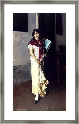 A Venetian Woman, 1882 Oil On Canvas Framed Print