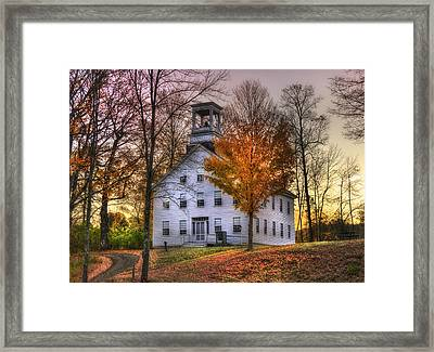 A Vermont Autumn - Woodstock Framed Print