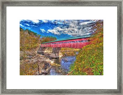 A Vermont Covered Bridge Taftsville Covered Bridge Framed Print by Constantine Gregory