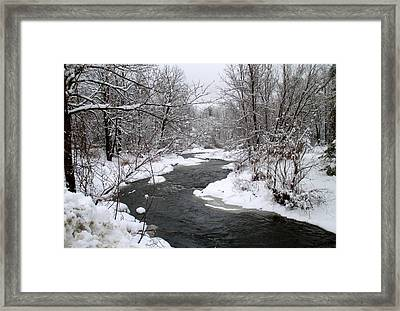 A Vermont Stream In Winter Framed Print