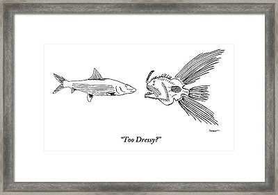A Very Elaborate-looking Fish Is Seen Speaking Framed Print
