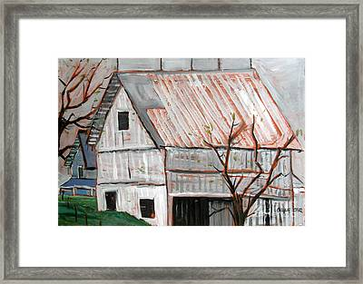 A Very Gray Day Framed Print
