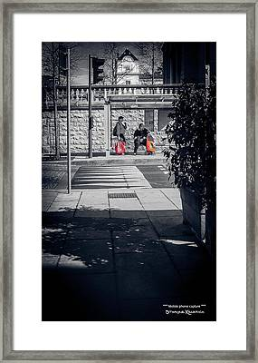 Framed Print featuring the photograph A Very Long Waiting Day by Stwayne Keubrick