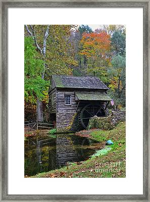A Very Old Grist Mill Framed Print