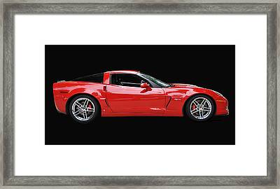 A Very Red Corvette Z6 Framed Print by Allen Beatty