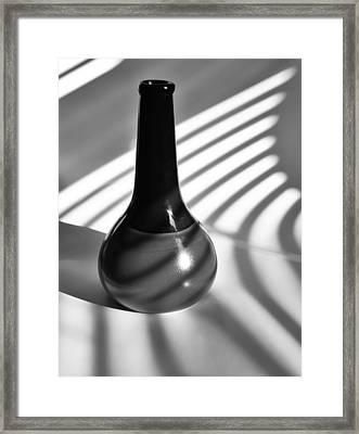 A Vessel 2 ...black And White Framed Print by Tom Druin