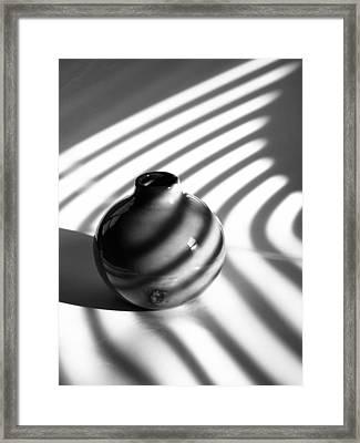 A Vessel...black And White Framed Print by Tom Druin