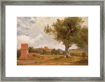 A View At Girgenti In Sicily With The Temple Of Concord Framed Print by Litz Collection