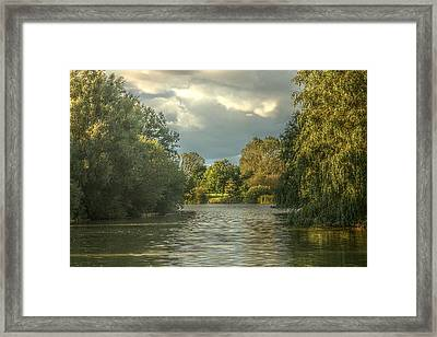 A View Down The Lake Framed Print