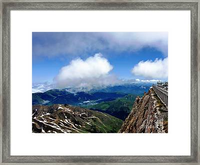 A View From Pic Du Mide Observatory Framed Print