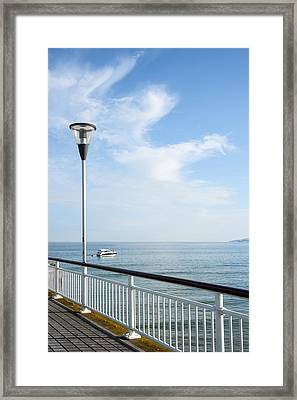 a View from Pier Framed Print by Svetlana Sewell