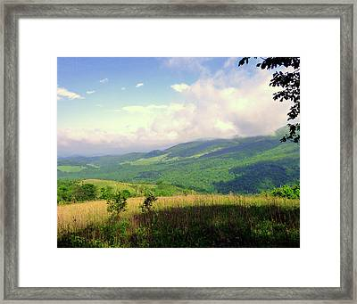 Framed Print featuring the photograph A View From Smith Mt. by Jim Whalen