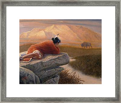 A View From The Big Rock Framed Print by Gregory Perillo