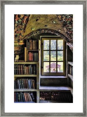 A View From The Study Framed Print by Susan Candelario