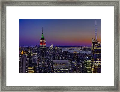 A View From The Top Framed Print by Susan Candelario