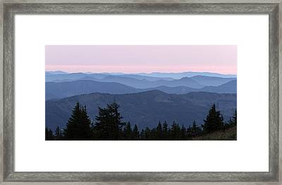 A View From Timberline Framed Print