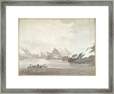 A View In Prince William Sound Framed Print