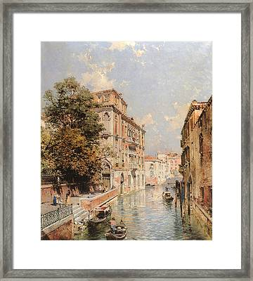 A View In Venice Rio S Marina Framed Print