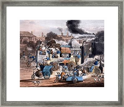 A View In White Chapel Road 1830 Framed Print