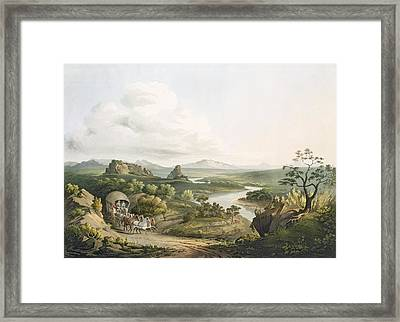 A View Near The Roode Sand Pass Framed Print
