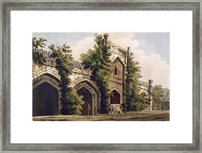 A View Of A Mosque, At Rajemahel Framed Print by William Hodges