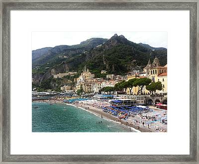 A View Of Amalfi Framed Print by H Hoffman