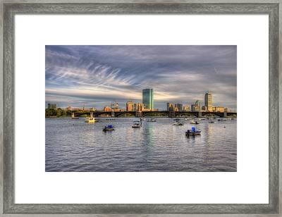 A View Of Back Bay - Boston Skyline Framed Print by Joann Vitali