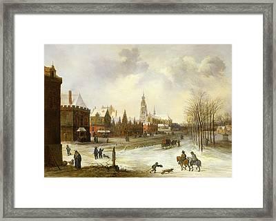 A View Of Breda Framed Print by Frans de Momper