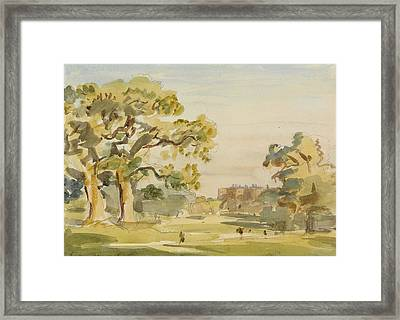 A View Of Chirk Castle, 1916 Framed Print