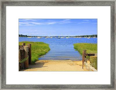 A View Of Oyster Bay Harbor Framed Print