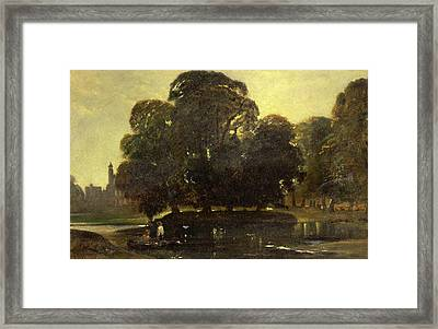 A View Of Eton And The Fellows Eyot, William James Muller Framed Print by Litz Collection