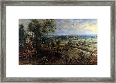 A View Of Het Steen In The Early Morning Framed Print