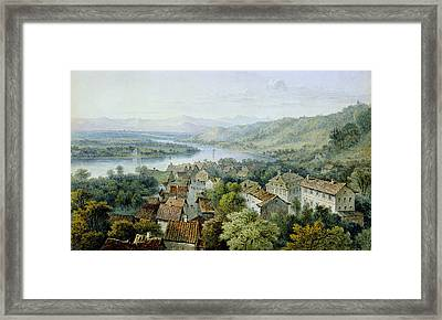 A View Of Karlsruhe Framed Print by Thomas Sidney Cooper