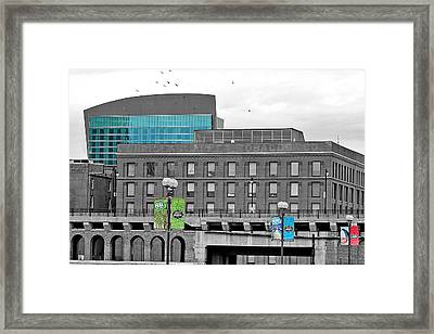 A View Of Laclede's Landing  Framed Print by Caren Libby