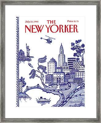 A View Of New York City Framed Print by Pamela Paparone