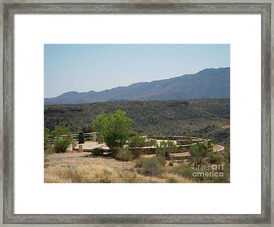 A View Of Sunset Point Framed Print by Debbie Wells