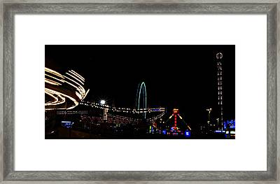 A View Of The Carnival Framed Print by Jp Grace