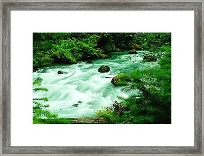 A View Of The Dosewallup River Framed Print by Jeff Swan
