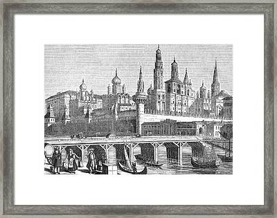 A View Of The Kremlin From The River Framed Print by Mary Evans Picture Library