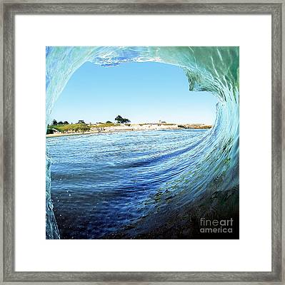 Framed Print featuring the photograph A View Of The Lighthouse by Paul Topp
