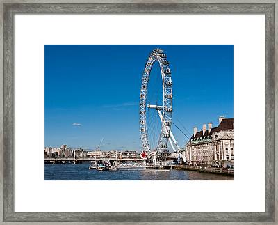 A View Of The London Eye Framed Print